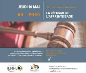 Save the date le 16 mai - Matinale RH : Réforme de la formation professionnelle