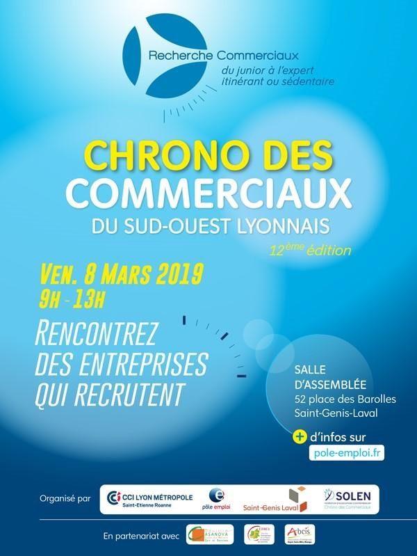8 mars matin : Chrono des commerciaux - forum recrutement des fonctions commerciales