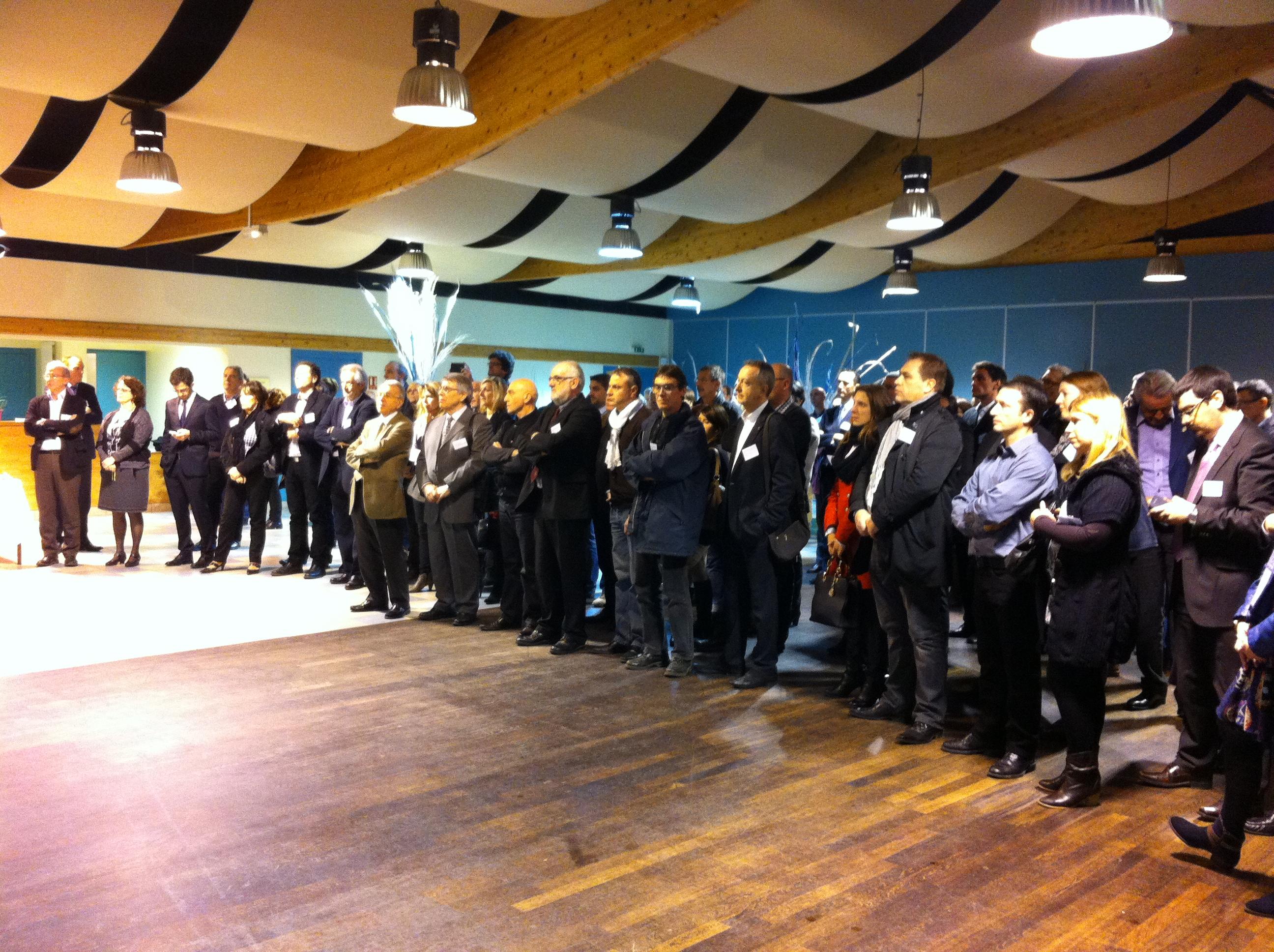 Chefs d'entreprise, élus et partenaires de l'agglo givordine