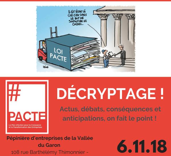 6 novembre - Matinale sur la loi PACTE : decryptage !